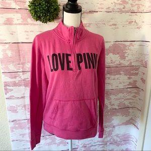 Victoria Secret PINK Mock Neck Quarter ZIP Sweater